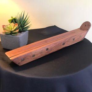 Wooden Incense Burner with Incense Sticks